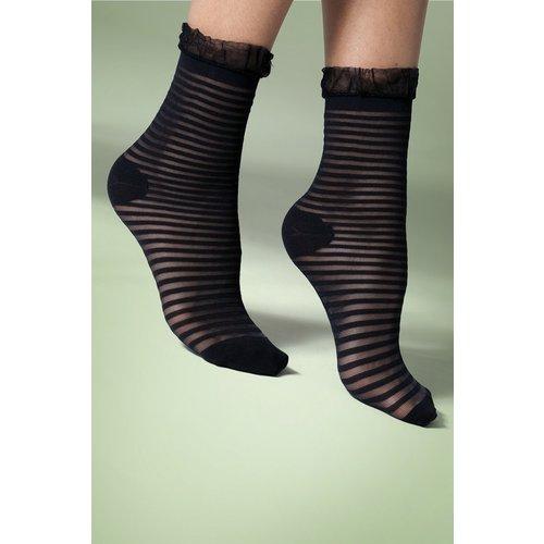 Sheer Stripe Frill Ankle Socks Années 60 en - gipsy - Modalova
