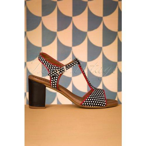 Pop Leather T-Strap Sandals Années 60 en - Nemonic - Modalova
