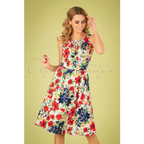 Esme Floral Show Dress Années 60 en - Pretty Vacant - Modalova