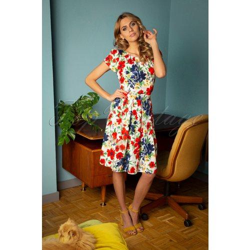 Fenna Flower Show Swing Dress Années 60 en - Pretty Vacant - Modalova