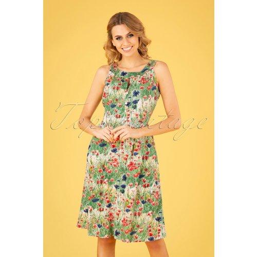 Esme Wild Flower Dress Années 60 en Multi - Pretty Vacant - Modalova