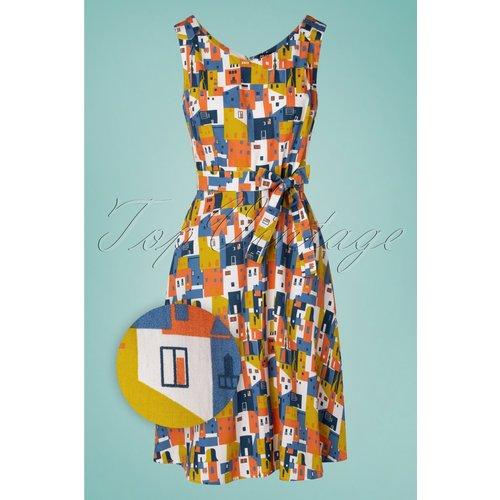 Minnie Houses Dress Années 60 en Multi - Pretty Vacant - Modalova