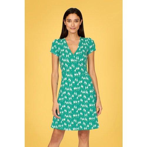 Robin Geese Dress Années 60 en Turquoise - Pretty Vacant - Modalova