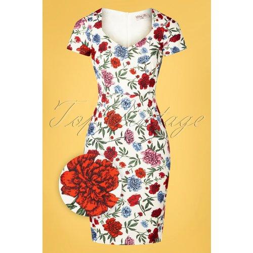 Fenny Floral Pencil Dress Années 50 en - vintage chic for topvintage - Modalova