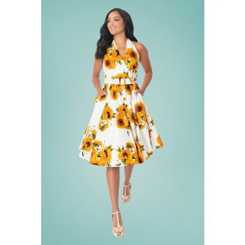 TarryTown Hostess Sunflowers Dress Années 50 en - unique vintage - Modalova