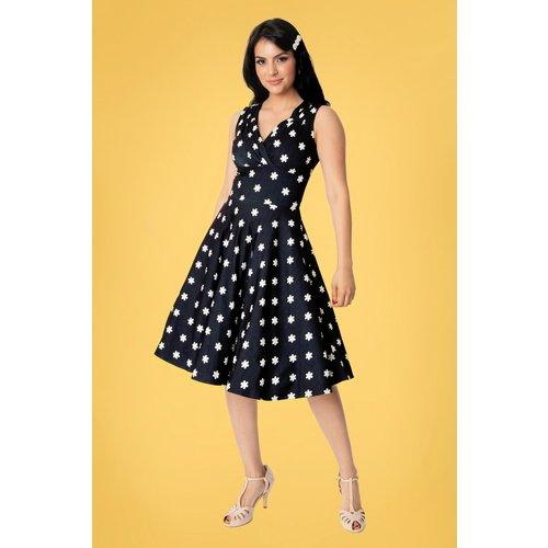 Delores Daisy Sleeveless Swing Dress Années 50 en Jean - unique vintage - Modalova