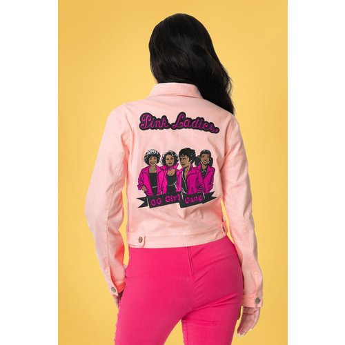 Grease Pink Ladies Denim Jacket Années 50 en - unique vintage - Modalova