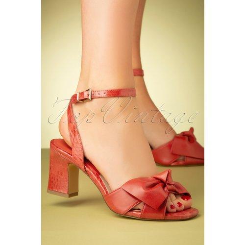Rosaly Bow Block Heel Sandals Années 60 en Flamme - tamaris - Modalova