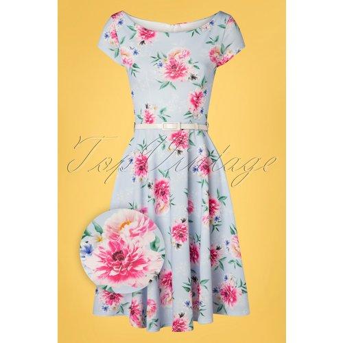 Arabella Floral Swing Dress Années 50 en Clair - vintage chic for topvintage - Modalova