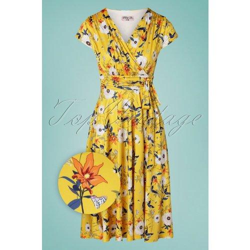 Caryl Floral Swing Dress Années 50 en - vintage chic for topvintage - Modalova