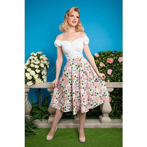 Matilde Flower Power Swing Skirt Années 50 en et - Collectif ♥ TopVintage - Modalova