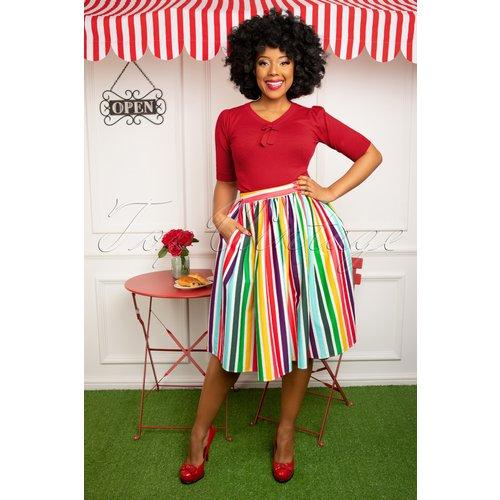 Jasmine Tutti Frutti Swing Skirt Années 50 en Multi - Collectif ♥ TopVintage - Modalova