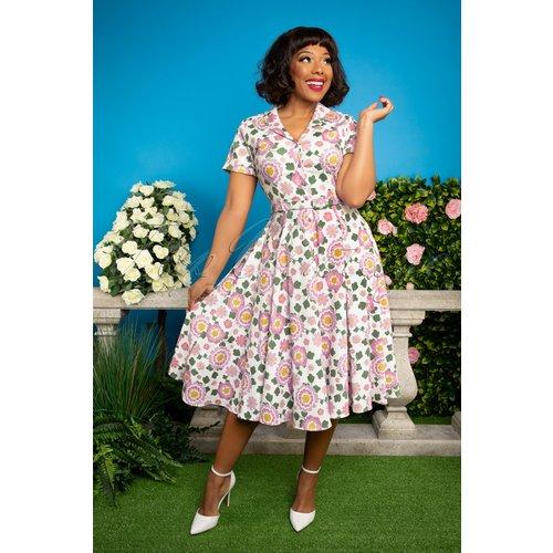 Caterina Flower Power Swing Dress Années 50 en et - Collectif ♥ TopVintage - Modalova
