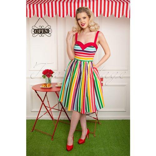 Kiana Tutti Frutti Swing Dress Années 50 en Multi - Collectif ♥ TopVintage - Modalova