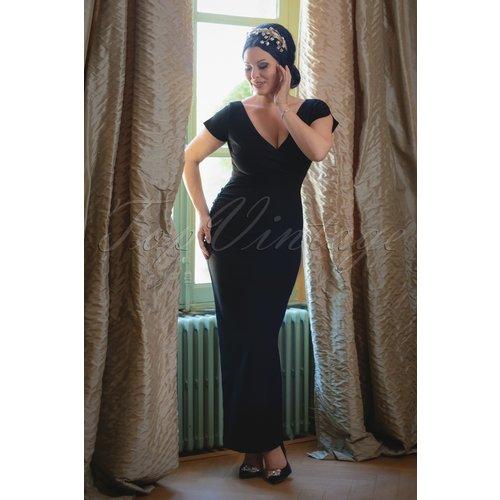 The Lynn Maxi Dress en Noir - Vintage Diva - Modalova