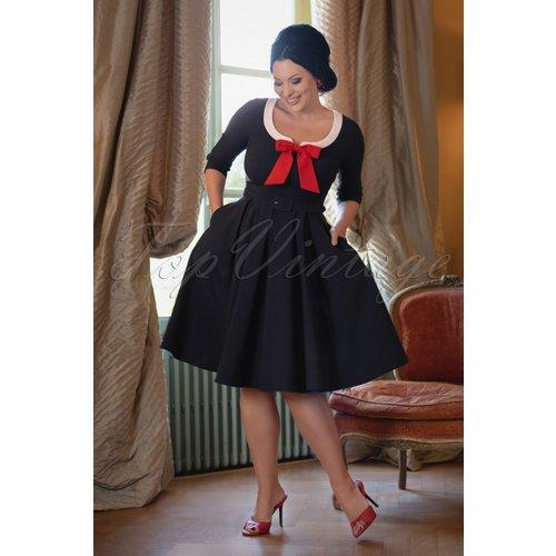 The Dovima Swing Dress en Marine - Vintage Diva - Modalova