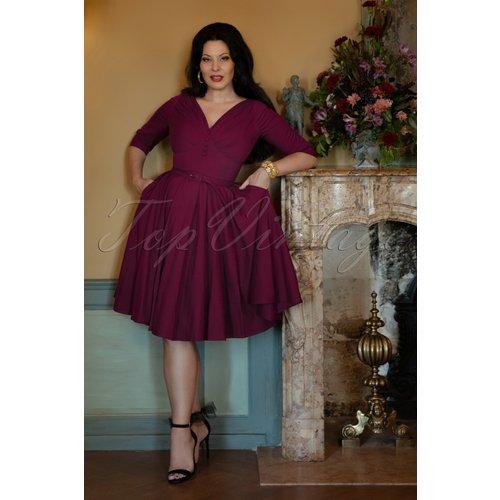 The Jane Swing Dress en Belle Baie - Vintage Diva - Modalova