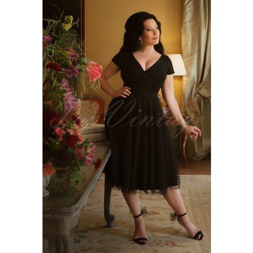 The Lynn Swing Dress en Noir - Vintage Diva - Modalova
