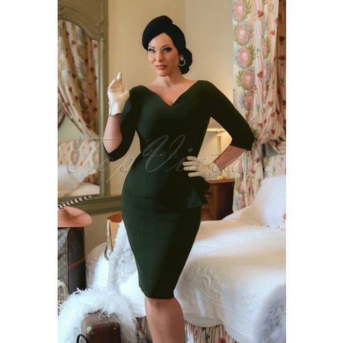 The Lana Pencil Dress en Foncé - Vintage Diva - Modalova