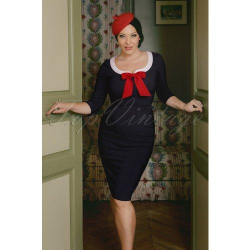 Robe Crayon The Dovima en Marine - Vintage Diva - Modalova