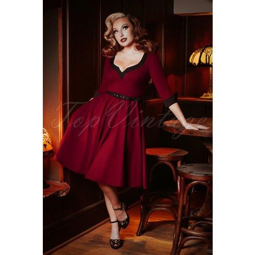 Vivienne Swing Dress Années 50 en Bordeaux - glamour bunny - Modalova