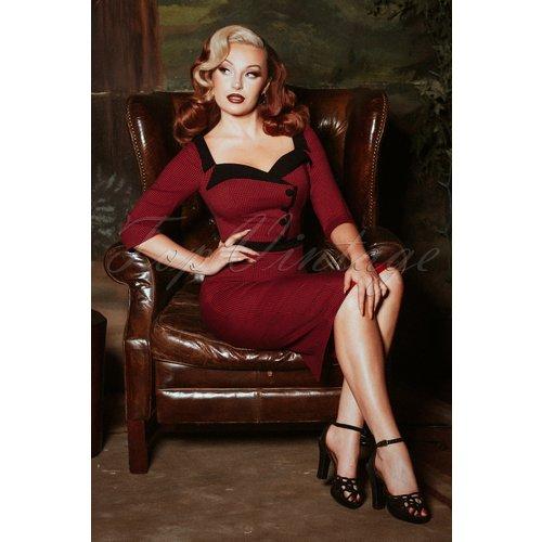 Suzette Gingham Pencil Dress Années 50 en et - glamour bunny - Modalova