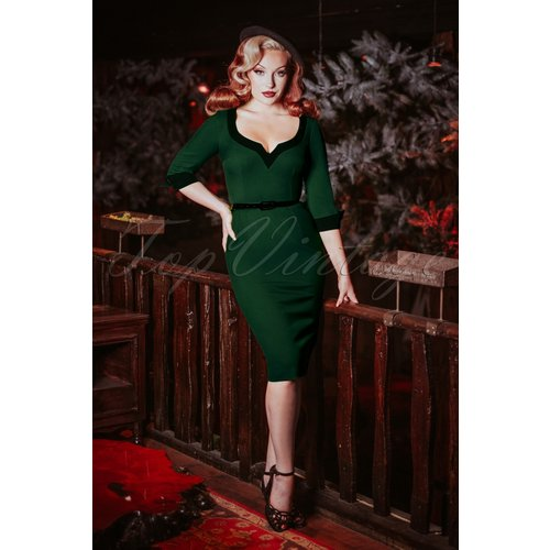 Robe Crayon Vivienne Années 50 en Militaire - glamour bunny - Modalova