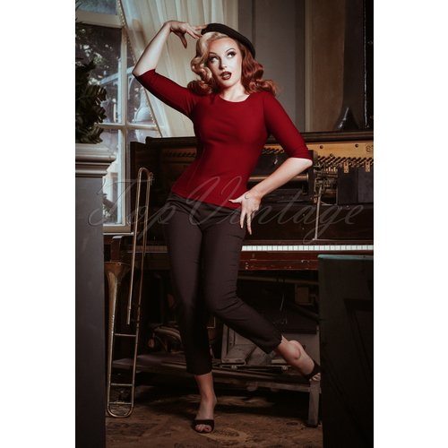 Haut Joy Années 50 en Rouge Vif - glamour bunny - Modalova