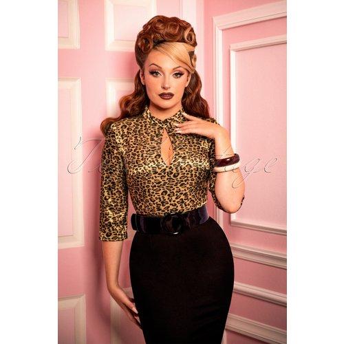 Ivy Pencil Dress Années 50 en Léopard et - glamour bunny - Modalova
