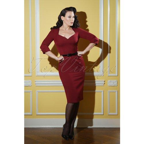 Robe Crayon Peggy Années 50 en Rubis - Glamour Bunny Business Babe - Modalova
