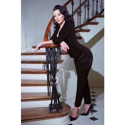 Pantalon Cigarette Eleanor Années 50 en - Glamour Bunny Business Babe - Modalova