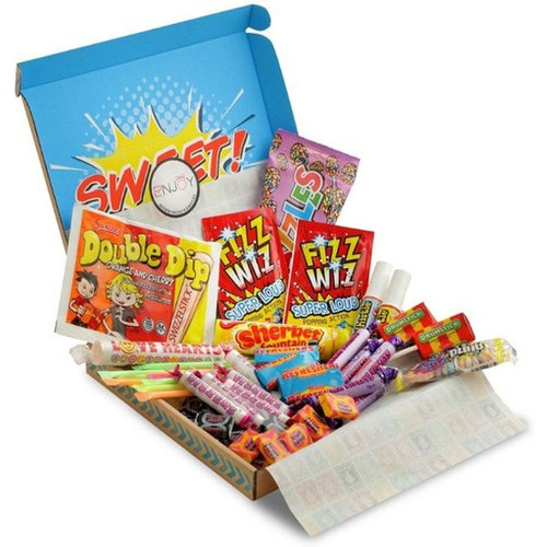 £12 instead of £29.99 for a retro sweets hamper from Flowers Delivery 4 U - save 60%