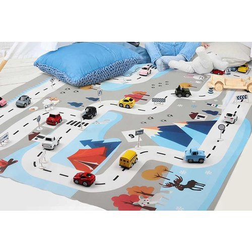 Save 70% - £5.99 instead of £19.99 (from Yello Goods) for a children's traffic play mat, £8.99 with road signs, £13.99 with road signs and cars - save up to 65%