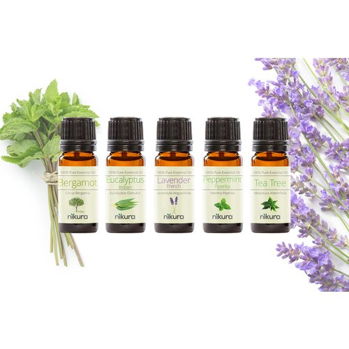 £4.99 (from Nikua) for a pack of five essential oils, £8.99 for a seven pack or £12 for a 12 pack - choose your option!