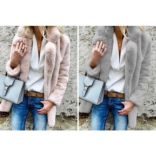 Women's Fluffy Lapel Coat