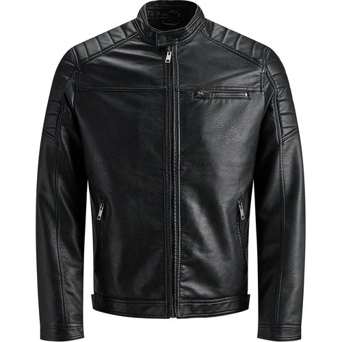 Imitation Veste En Cuir Men black - jack & jones - Modalova