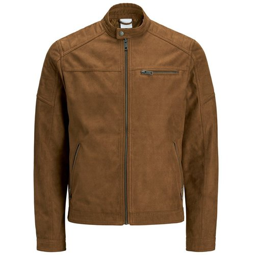 Imitation Veste En Cuir Men brown - jack & jones - Modalova