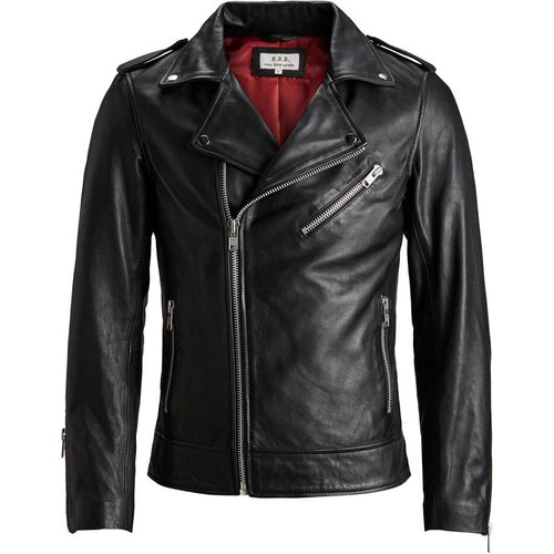Rdd Motard Veste En Cuir Men black - jack & jones - Modalova