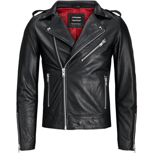 Terminator Veste En Cuir Men black - jack & jones - Modalova