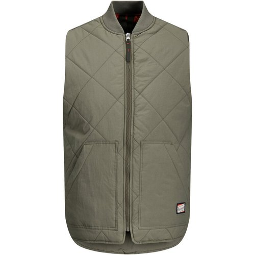 Matelassé, Vêtements De Travail Gilet Sans Manches Men green - jack & jones - Modalova