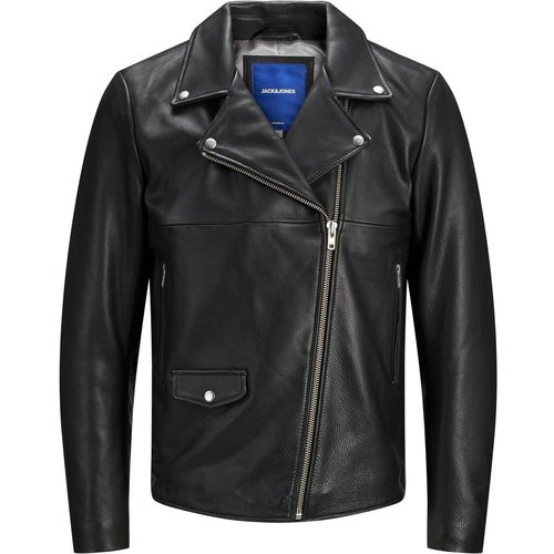 Hyper Veste En Cuir Men black - jack & jones - Modalova