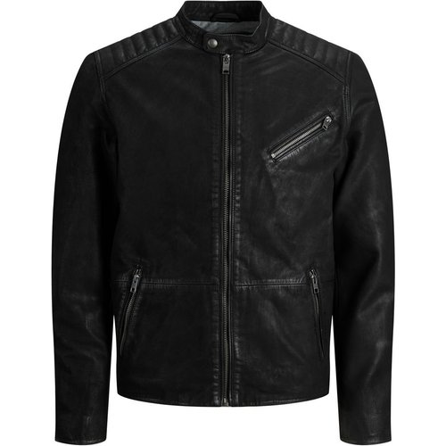 Classique Veste En Cuir Men black - jack & jones - Modalova