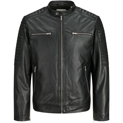 Agneau Veste En Cuir Men black - jack & jones - Modalova