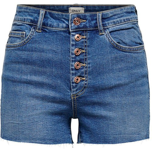 Onlhush Wh Btn Shorts En Jean Women Blue - Only - Modalova