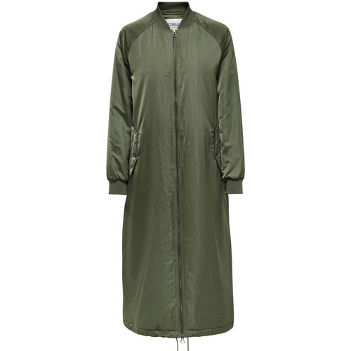 Bomber Longue Veste Women Green - Only - Modalova