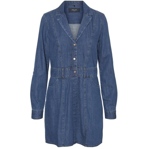 DÉCOLLETÉ EN V, JEAN MINI-ROBE - Noisy May - Modalova