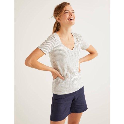 T-shirt col V en coton IVO  - Boden - Modalova