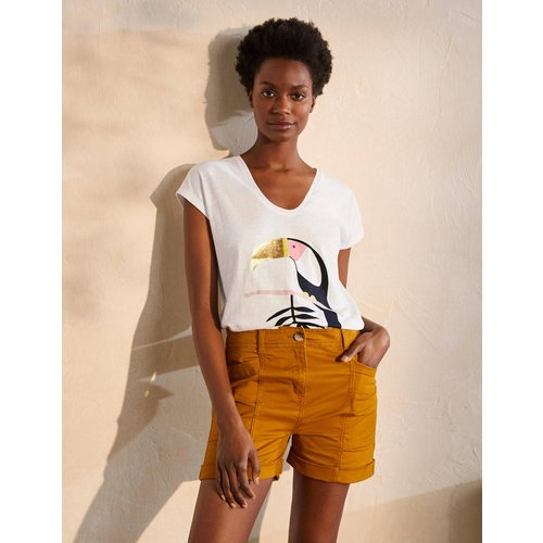 T-shirt fun à col V arrondi WHT  - Boden - Modalova