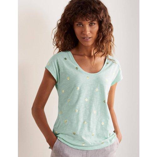 T-shirt fun à col V arrondi BLU  - Boden - Modalova