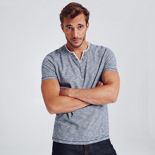 T-shirt col tunisien Bleu Homme - Brice - Modalova